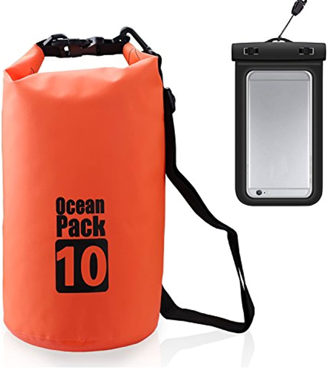 Jian Ya Na Waterproof Dry Bags Roll Top Dry Compression Sack Keeps Gear Dry Bags with Adjustable Strap for Outdoor Kayaking, Beach, Rafting, Boating,Bonus Waterproof Phone Case