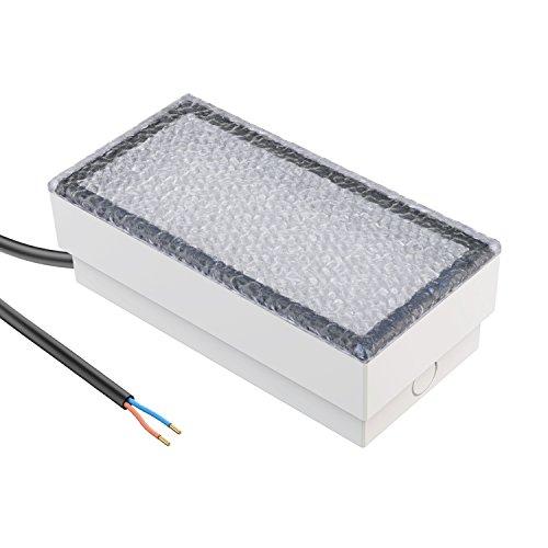 parlat LED Pflasterstein Bodenleuchte CUS, 20x10cm, 230V, warm-weiß