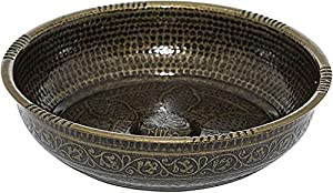 Alisveristime Turkish Authentic Copper Bath Bowl & Hammam Bowl (440gr (15.50 oz) Made of Zinc (7.87-Inch Diameter)