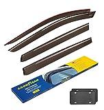 Goodyear Side Window Deflectors for Infiniti QX60 2014-2020, Tape-on Rain Guards, Window Visors for Cars, Vent Deflector, Vent Visor, Car Accessories, 4 pcs- GY003165LP