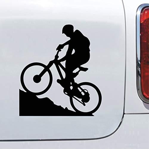 Mountainbiker MTB Biker sticker Fahrrad Aufkleber Autoaufkleber (Schwarzmatt)