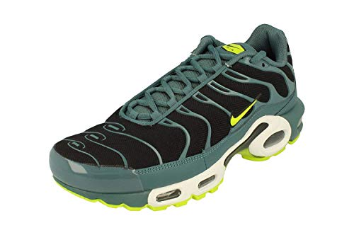 Nike Air Max Plus Hommes Running 852630 Sneakers Chaussures (UK 6.5 US 7.5 EU 40.5, Black Volt White 014)