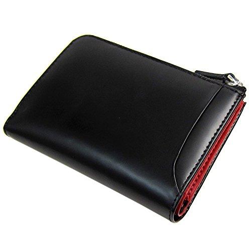 [マトゥーリ]Maturi エグゼクティブ コードバン×牛革 多機能 キーケース 財布 小銭 MR-131 黒/赤