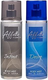 Affetto By Sunny Leone Instinct & Desire Body Mist - For Women 200ML Each (400ML, Pack of 2)
