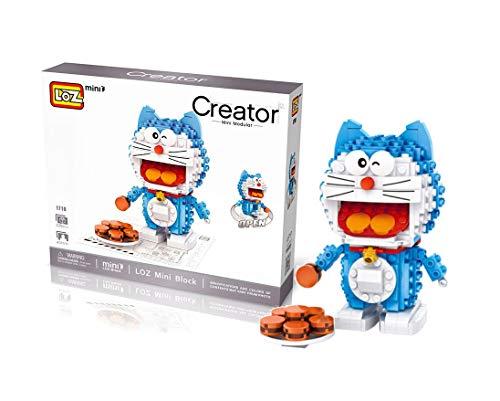 Outletdelocio.. LOZ 1710. Kit de construccion miniaturizada. Doraemon con Galletas. 330 Piezas