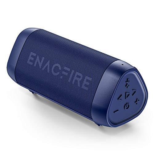 ENACFIRE SoundBar Mini Bluetooth Lautsprecher, 12W Kabellose Tragbare Musikbox mit Freisprechfunktion, 25 Stunden Spielzeit, 30m Bluetooth Reichweite, IPX7 Wasserdicht Blau