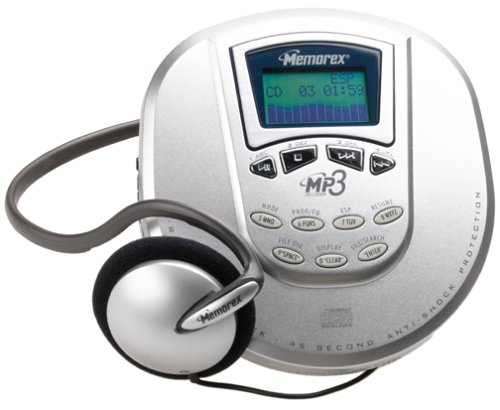 Memorex MPD8507CP Personal CD MP3 Player with 120 Seconds of MP3 Anti-Skip Protection