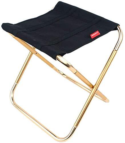 HETAO 7075 outdoor vouwstoel visstoel aluminium klapstoelen draagbare barbecue kruk Mazar trein campingstoel met tassen, Goud