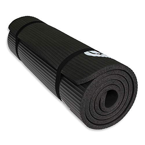 YUREN Yogamatte Extra Dicke 1,5cm Stärke Auflage Weich NBR Schaumstoff Phthalatfrei Gymnastikmatte für Yoga Pilates Fitness mit Tasche Trageband zum Mitnehmen