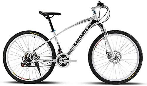 26 pouces vélo de montagne cadre en acier à haute teneur en carbone vélo double freins à disque vélo roue à rayons vélo tout terrain, hommes adultes équitation en plein air, 21 vitesses 24 vitesses