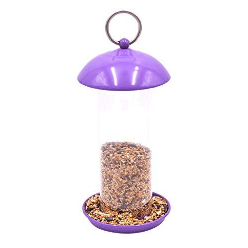 Futterstationszubehör Purple Bird Feeder zum Beobachten und Schützen von Tiervögeln Gitterrohr aus Kunststoff - Transparentes Rohr Zwei Optionen Tiernahrungsspender
