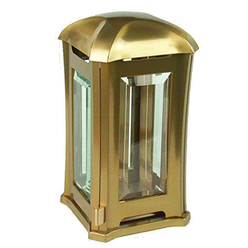designgrab AML5 Venezia Lanterne funéraire en Acier Inoxydable Couleur Bronze doré Dimensions : 13 x 13 x 24 cm