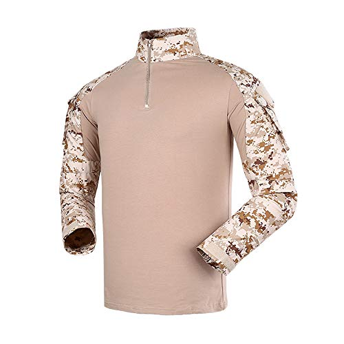 The Mercenary Company Advanced Long Sleeve Combat Shirt (AOR1 Digital Desert, Large)
