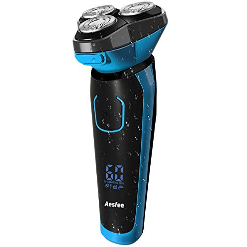 Electric Shaver for Men Wet and Dry Waterproof, Electric Razor Cordless Men's 3D Rotary Shavers...
