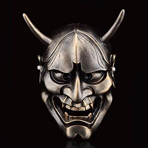 LYQZ Disfraz de Halloween Horror, Fantasma Cabeza Máscara Cosplay Samurai Props...
