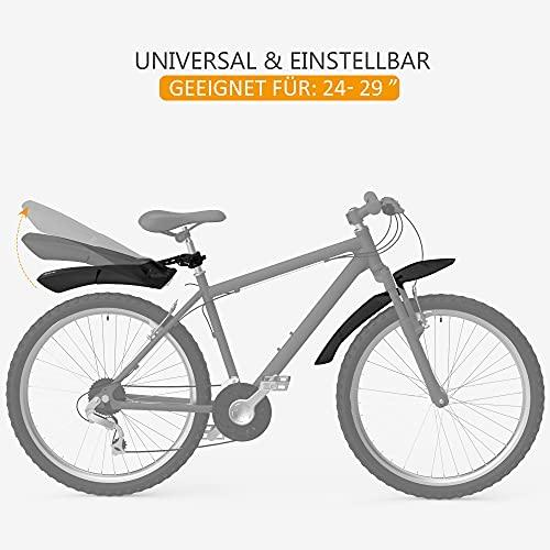 PLAUSO Fahrrad Schutzblech Set für 24-29 Zoll Universal Fahrradschutzblech,Mountainbike, MTB Steckschutzblech zum Schutz vor Spritzwasser & Schmutz,einfache Montage Spritzschutzset