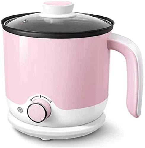 HZYD Mini Maison Dortoir électrique Noodle Cooker Multifonctions Hot Pot 1-2 Personne Cuisinière électrique Petite Cuisine Petit électroménager (Couleur: Vert) (Couleur: Rose), Couleur: Rose