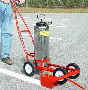 Parking Lot Paint Line Striping Machine Trueline Striper Hand Pump Model with Air Valve