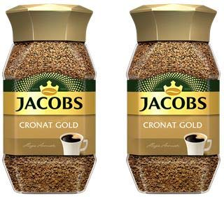 Jacobs Cronat Gold Instant Coffee 200 Gram / 7.05 Ounce (Pack of 2)