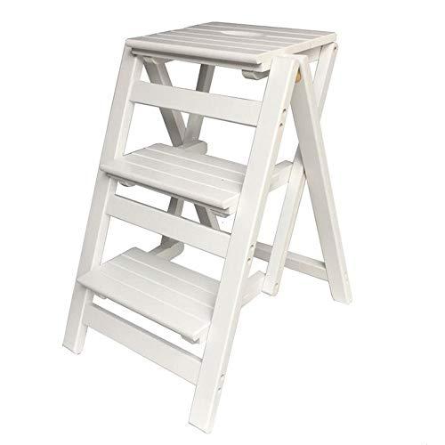 Xiao Jian klapstoel, draagbaar, kruk, ladder, bloembak, 3 lagen, hout, trapladder