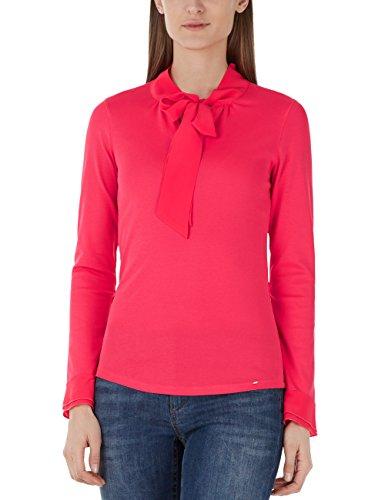 Marc Cain Collections Damen T-Shirt KC 48.08 J14, Mehrfarbig (Geranium 248), 42 EU (Herstellergröße: N5)