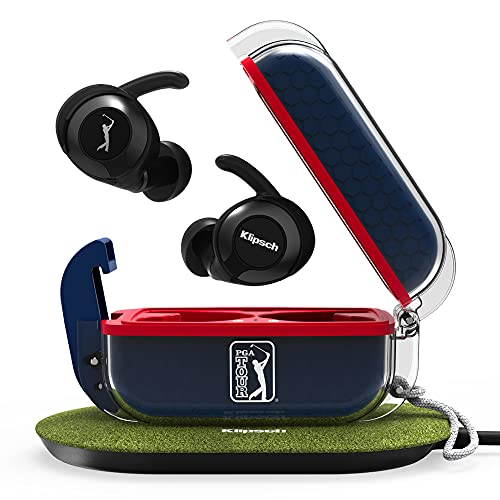 klipsch android earbuds Klipsch T5 II True Wireless Sport Earbuds PGA Tour Edition with Dust/Waterproof Case & Earbuds, Best Fitting Earbuds with Patented Comfort, 32 Hours of Battery, & Wireless Charging Case