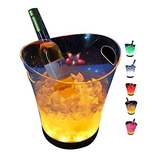 Cubo De Hielo LED De 5L De Gran Capacidad, Cubeta De Vino De Champán Que Cambia De Colores para Fiestas, Bar En Casa para Fiestas, Bar Y Bar En Casa