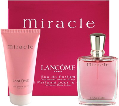 MIRACLE by Lancome Gift Set -- 1.7 oz Eau De Parfum Spray + 1.7 oz Body Lotion / -- (Women)