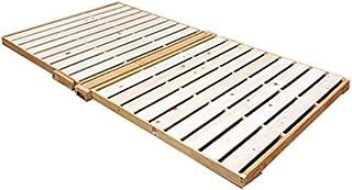 広島府中家具 折りたたみ檜すのこベッド シングル スプリング付 高さ5.5cm 布団別売り