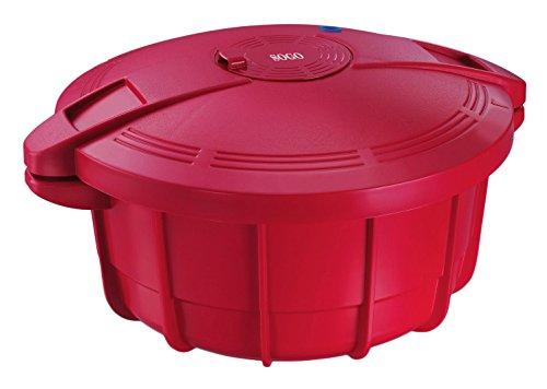SOGO OLL-SS-10775 g Autocuiseur pour Micro-Ondes 3,2 l 30 cm Rouge