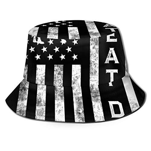 Vintage Great Dane American Flag - Sombrero de Pescador Plegable Plegable, para Mujer, Hombre, Verano, Hawaii, Moda, protección Solar, protección Solar, Boonie, Gorra de Camionero para Viajes