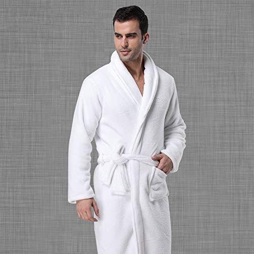 BAYUE Robes Mannen Effen Winter Dikker Warm Zachte Zakken Vrije tijd Lange Mouw Thuis Kleding Mens Koraal Fleece Badjas Europese Stijl