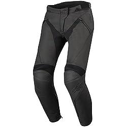 Alpinestars Motorradhose Stella Jagg Leather Pants Black Black, Schwarz/Schwarz, 44