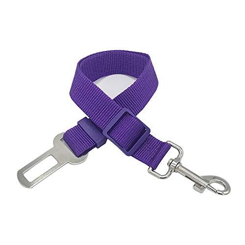 Correa Ajustable para Perro, Mascota, Perro, cinturón de Seguridad para automóvil, Caminatas, Correas Muy duraderas, Entrenamiento para el automóvil, Perros Grandes, medianos y pequeños, púrpura