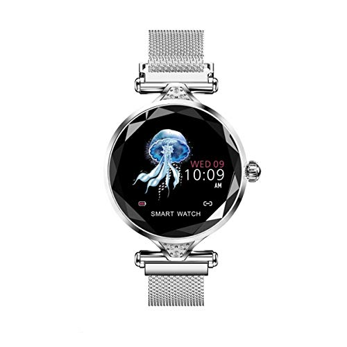 Reloj Inteligente para Damas, Pantalla Táctil De 1.04 Pulgadas, Rastreador De Ejercicios con Monitor De Frecuencia Cardíaca, Ip67 a Prueba De Agua, Adecuado para Sistema iOS/Android