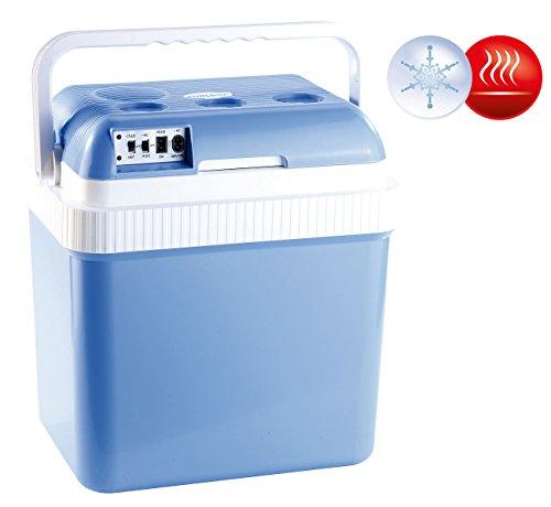 Xcase Kühlbox Baustelle: Thermoelektrische Kühl- und Wärmebox, 24 l, 12- & 230-V-Anschluss (Kühlbox Auto)
