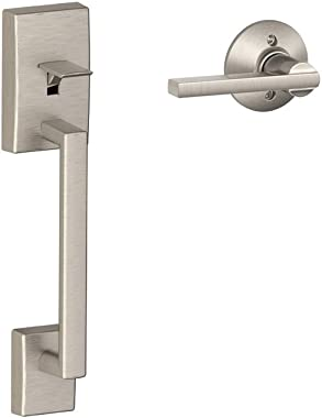 Schlage LOCK FE285 CEN 619 LAT Century Front Entry Handle Latitude Interior Lever (Satin Nickel),11.9 x 2.5 x 2.25
