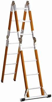 Louisville 15-ft 300-lb Duty Rating Fiberglass Articulated Folding Ladder