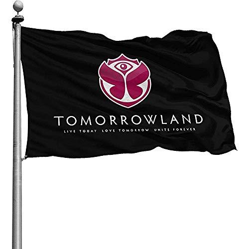 Just Life Fantastische saisonale Flagge im Freien, Tomorrowland Garden Flagsfunny Family Flags für Hinterhof-Rasengarten 90x150cm