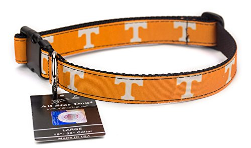 All Star Dogs Tennessee Volunteers Ribbon Dog Collar - Medium