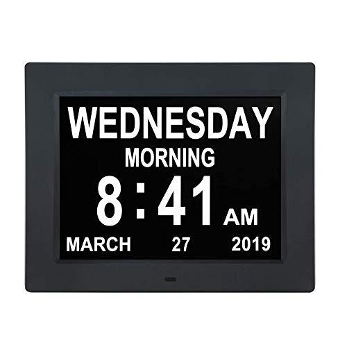 Kjdm Reloj de día con Calendario Digital de 10 Pulgadas,