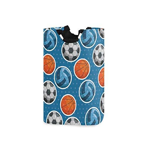 Baloncesto Fútbol Balones de fútbol Bolsa de cesto de lavandería con manija Cesta de almacenamiento plegable a prueba de agua grande Totalizador para baño Papelera de lavado Ropa Bolsas de viaje plega