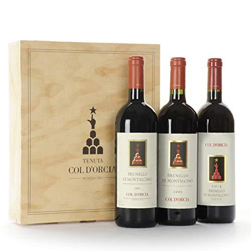 Cassetta Regalo Vini Migliori Brunello Col d' Orcia - 3 Bottiglie - Regalo Vino Pregiato Per Festività ed Occasioni Importanti - Cod. 186