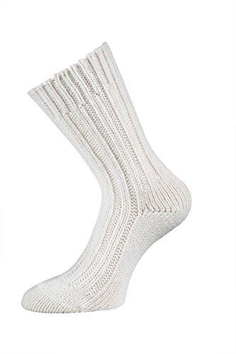 TippTexx24 Nie wieder kalte Füße, 2 Paar superweiche Alpaka-Socken, Wollsocken für Damen & Herren (35/38, Wollweiß)