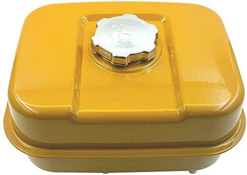 xiegons0 Depósito Combustible, Portátil Gasolina Tanque, Recambio Gas Depósito Combustible Duradero Gas Lata Motor Partes para Subaru Robin EX17 EX21 - Amarillo, 1pc