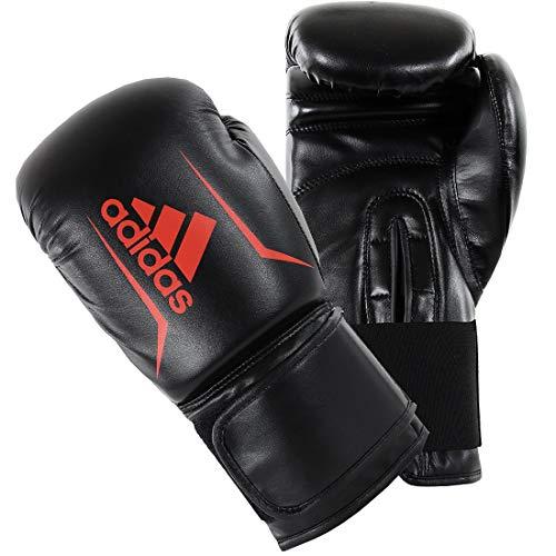adidas Boxhandschuhe für Herren und Damen / Kinder, 113,4 g, 170,1 g, 227,8 g, 283,5 g, 340,2 g, 397,9 g, 453,6 g, Speed 64, schwarz/rot