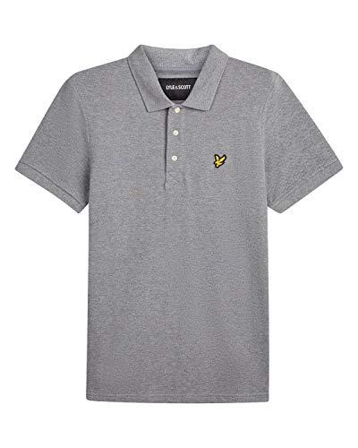 Lyle & Scott Lyle & Scott Herren Polo Shirt Poloshirt, Grau (Mid Grey Marl T28), X-Small (Herstellergröße: X-Large)