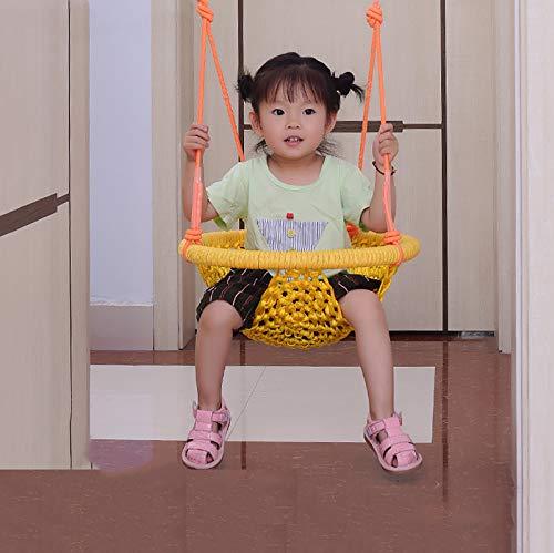 WWSZ Columpio para bebé Asiento de bebé,Columpios Infantiles Exterior y Interior,Cuerda Ajustable Hamaca para Silla Colgante para niños,Ideal para Patio Jardin