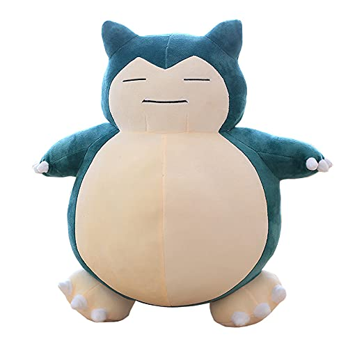 LRBHSH Kawaii Chubby Snorlax Plush Toy, Soft Fluffy Stuffed Animal Pillow Cushion 12 Inch, Cute Plushie Gift for Kids Adult Friend and Anime Game Fans