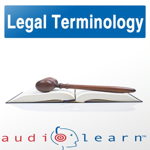 Legal Terminology audiobook cover art